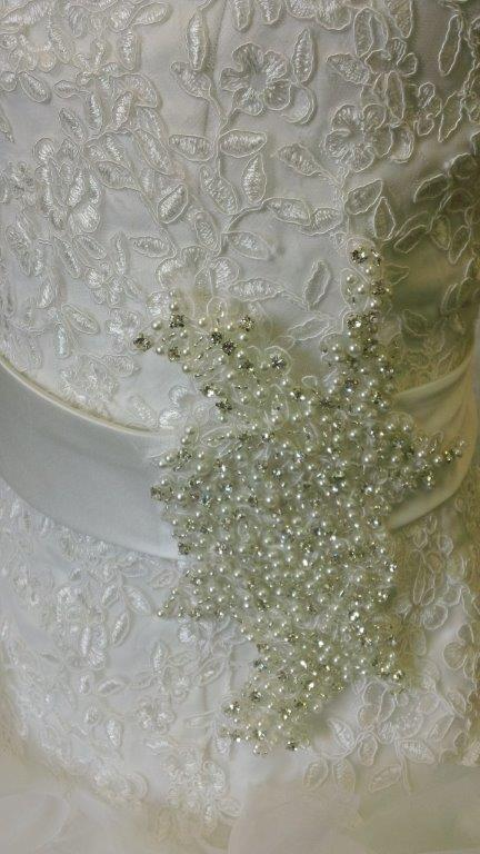 silver and pearl sash