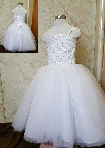 flower girls tulle ball gown