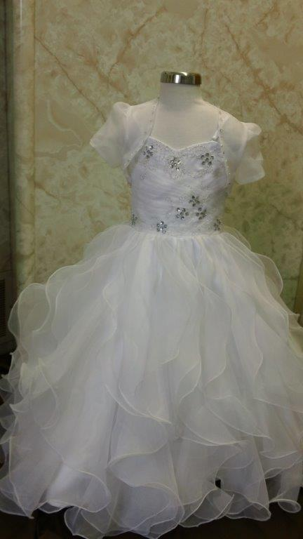 toddler flower girl dresses with ruffle skirt