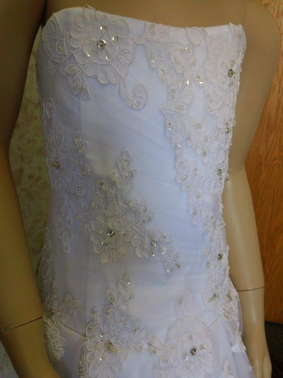 beaded lace wedding flower girl dress