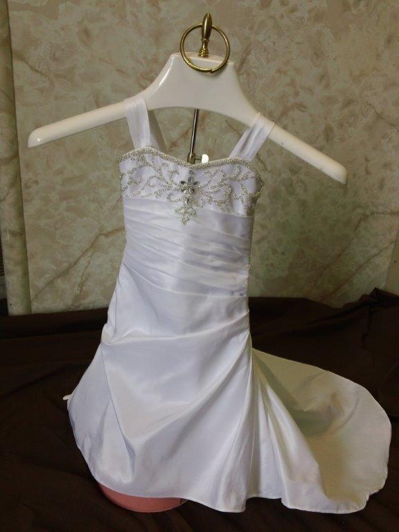 Infant fit and flare wedding dresses with train