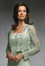 Green Lace Mother Of The Bride Dress