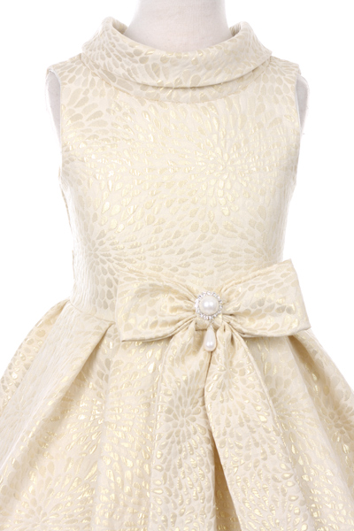 girls ivory gold dress