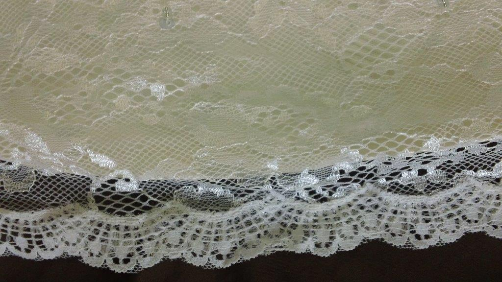lace edged hem