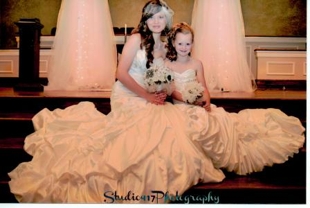 bridal style flower girl dresses