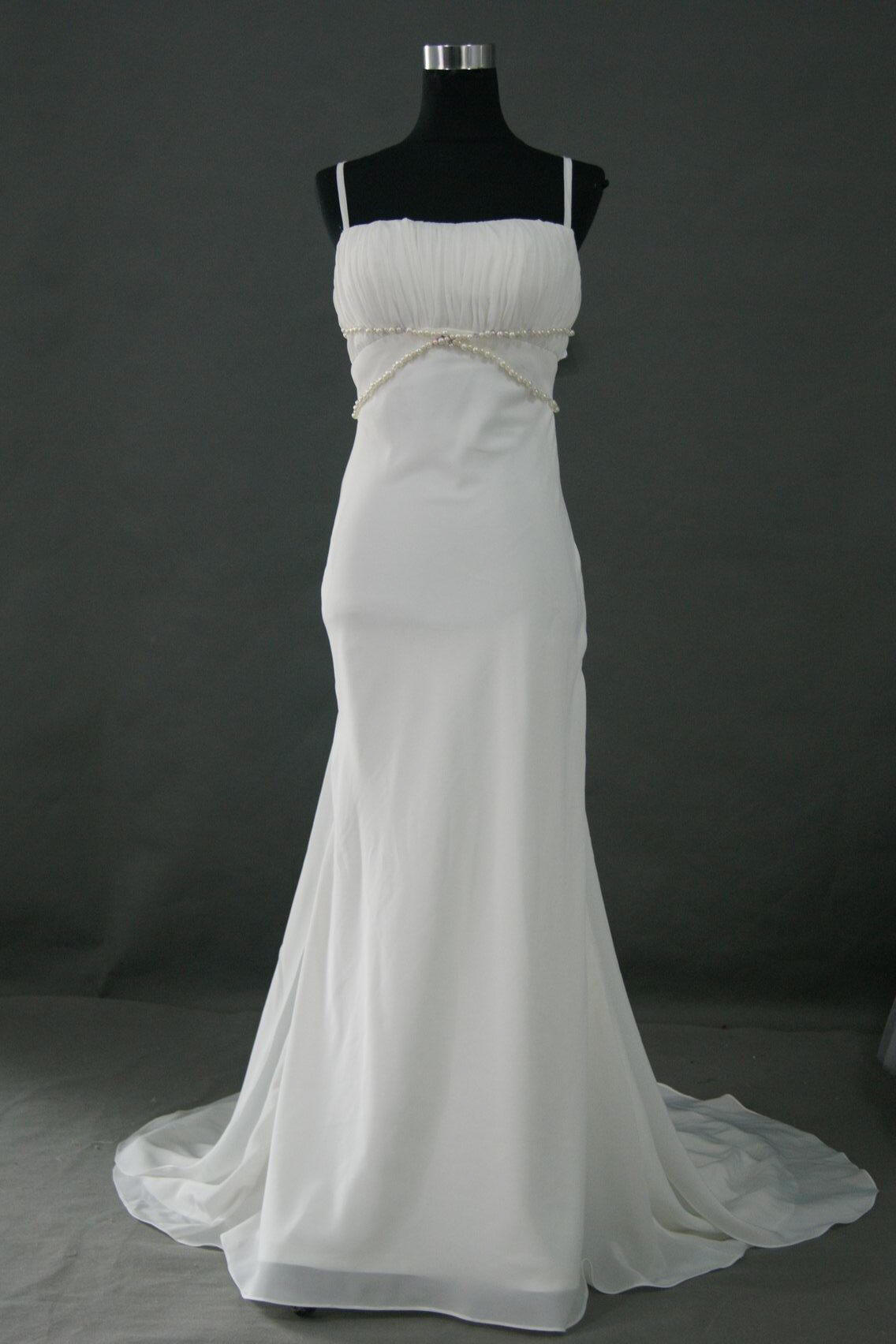crinkle bodice wedding gown