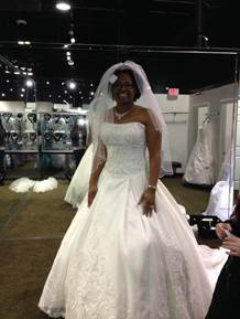 brides gown to match