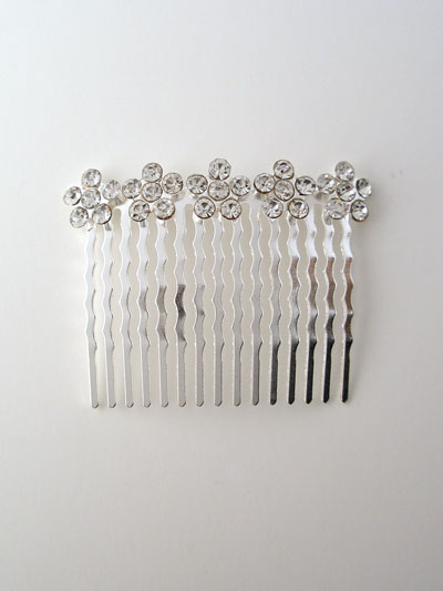 Austrian crystal bridal combs