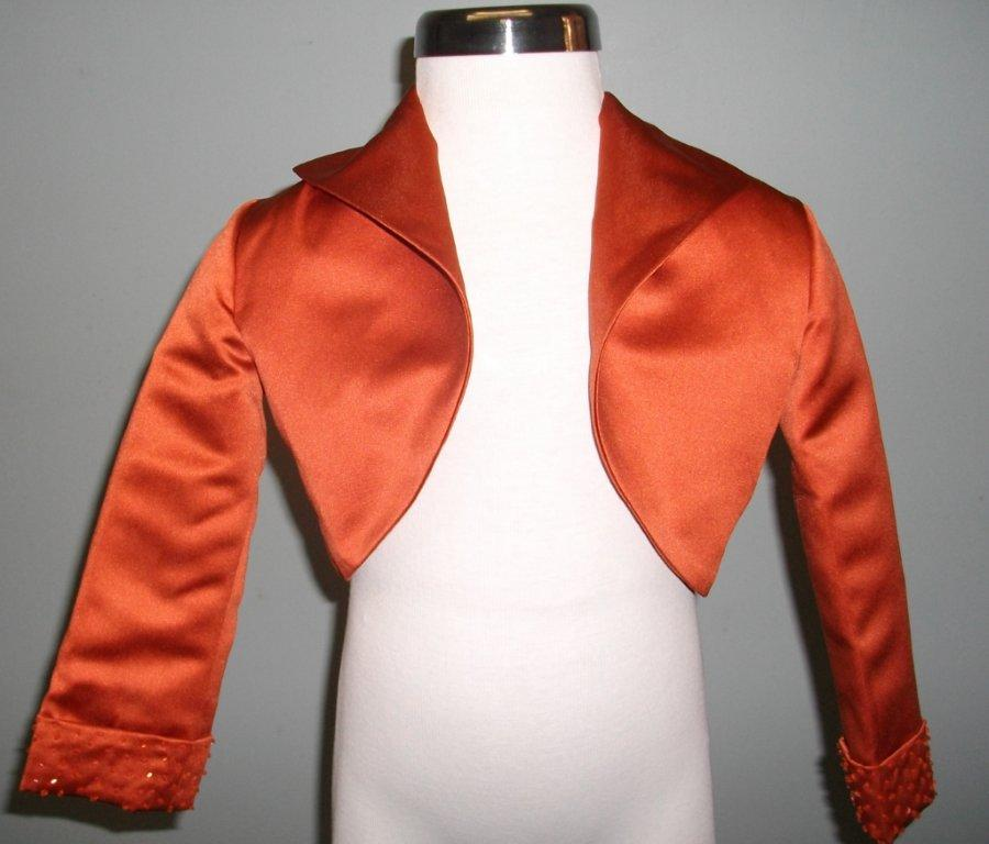 orange beaded jacket
