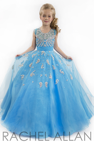 ocean blue pageant dress