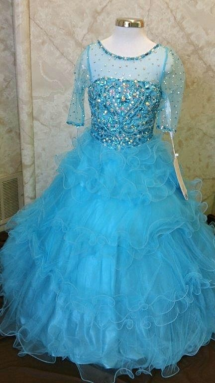 turquoise pageant dresses for girls