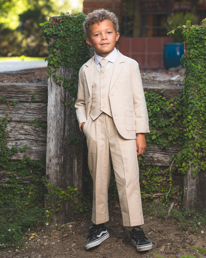 Baby to Teen Boys White or Ivory Long Sleeve Pleat Childs Tuxedo Dress Shirt