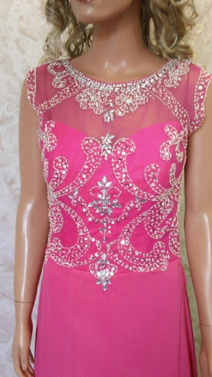 pink chiffon mother of the bride dresses