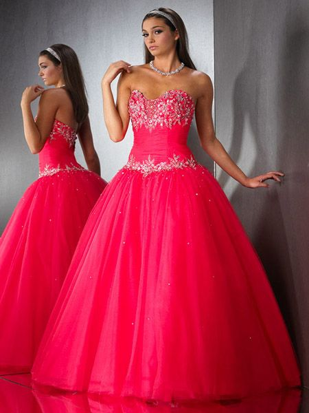 long ballroom gown