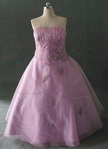 strapless pageant dress