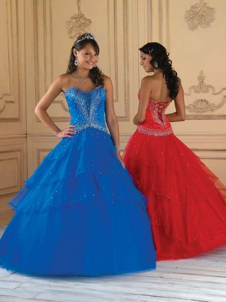 red blue pageant dresses for teens