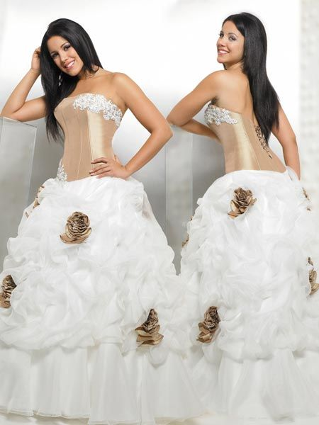 quinceanera dama dress with roses