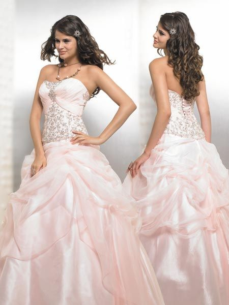 pink and silver pageant dresses