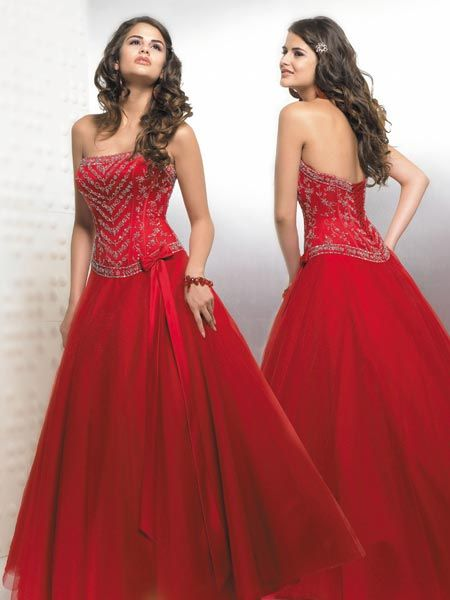 red beauty pageant dress