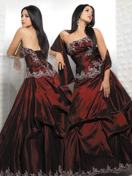 Apple Red Quinceanera Ball gown