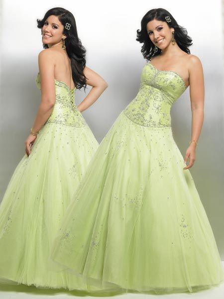 lime Quinceanera Ball gowns