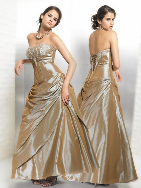latte prom gown
