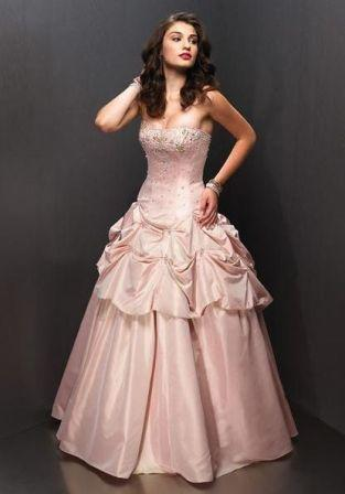 pink pageant pickup gown