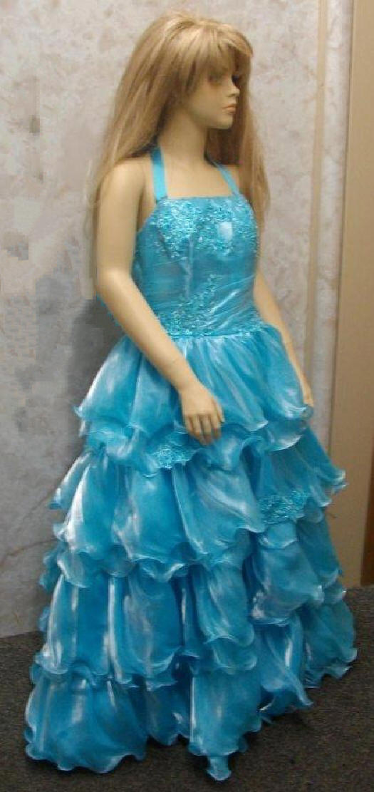 aqua pageant dress