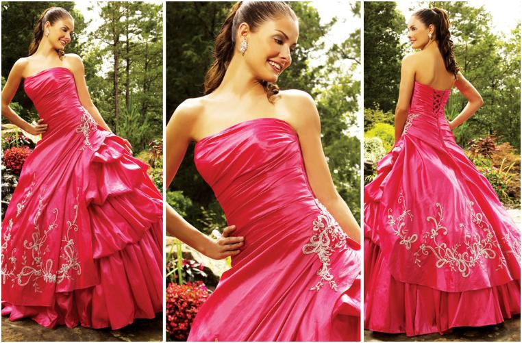 flamingo quinceanera dresses