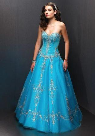 long strapless blue or silver prom dresses