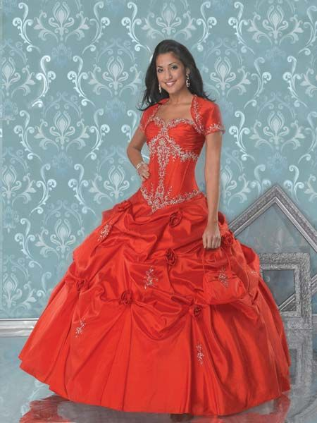 red quinceanera dresses with jacket