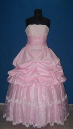 bubble gum pink prom dress