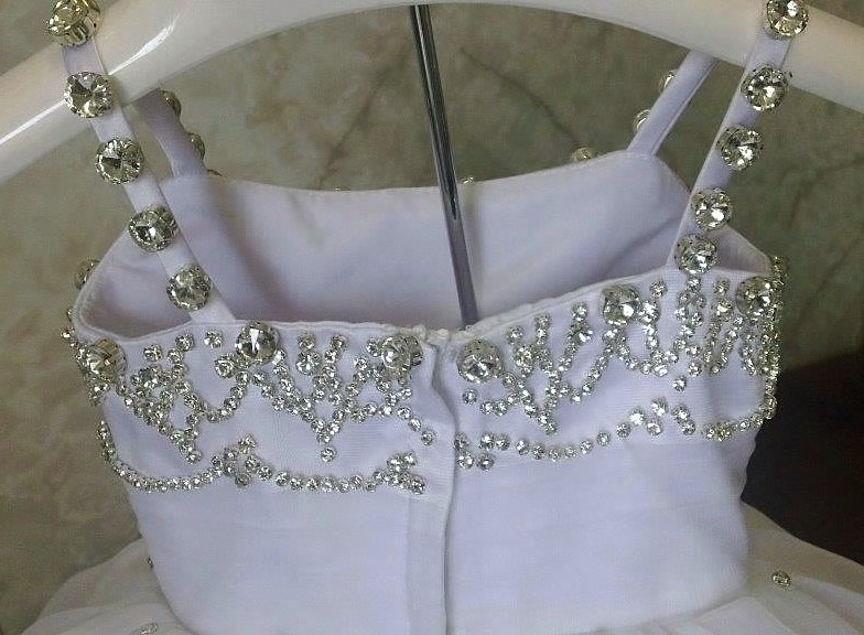 beaded infant wedding gown