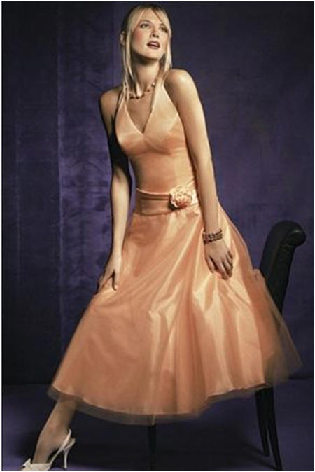 peach short bridesmaid dresses