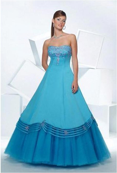 turquoise embellished evening gowns