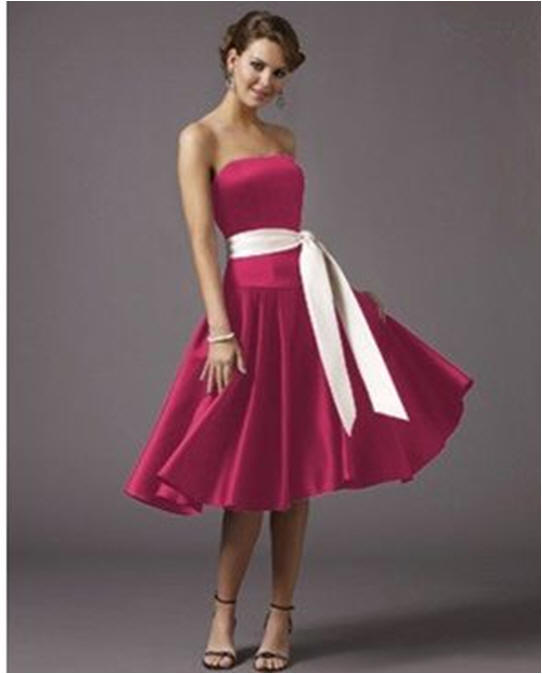prom short hot pink dresses