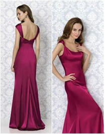 low back evening gown