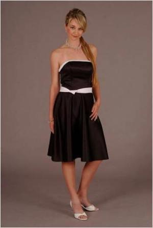 strapless short prom dress