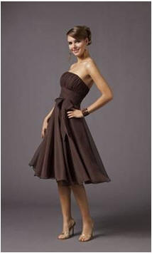 ravishing chocolate evening dress