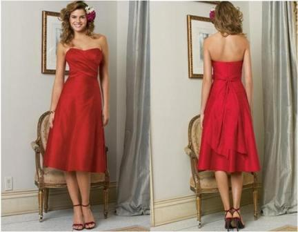 red prom short dress