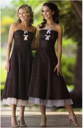 chocolate prom, evening or party dresses