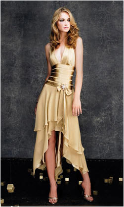elegant gold prom dress