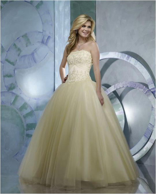 yellow ball gown