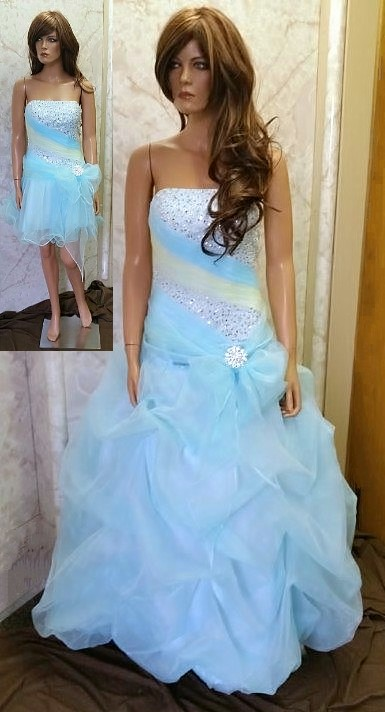 blue and yellow quinceanera dresses