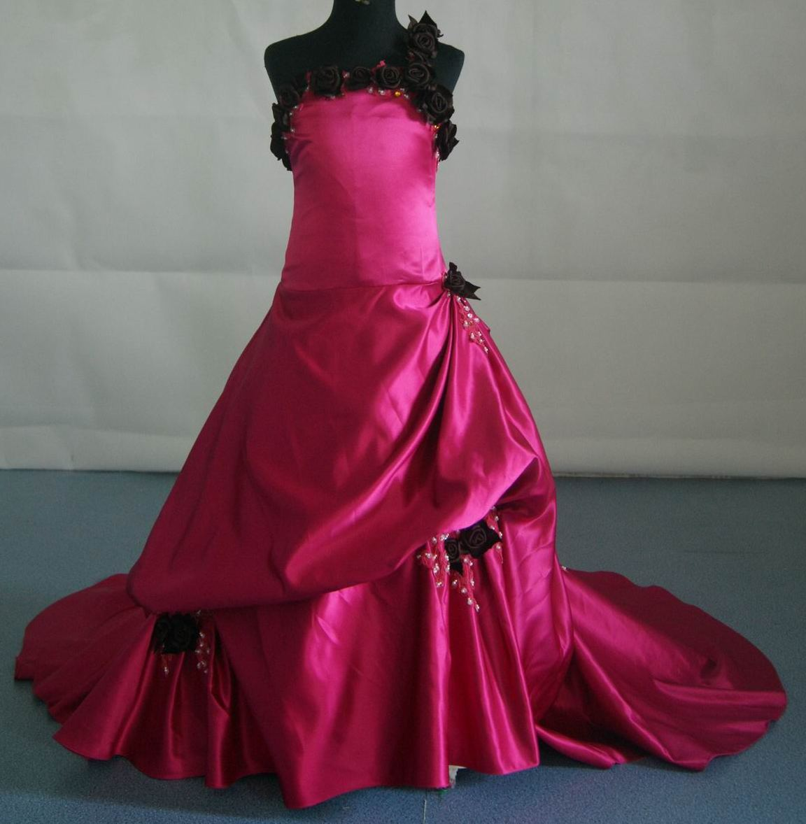 Bunches of roses gown