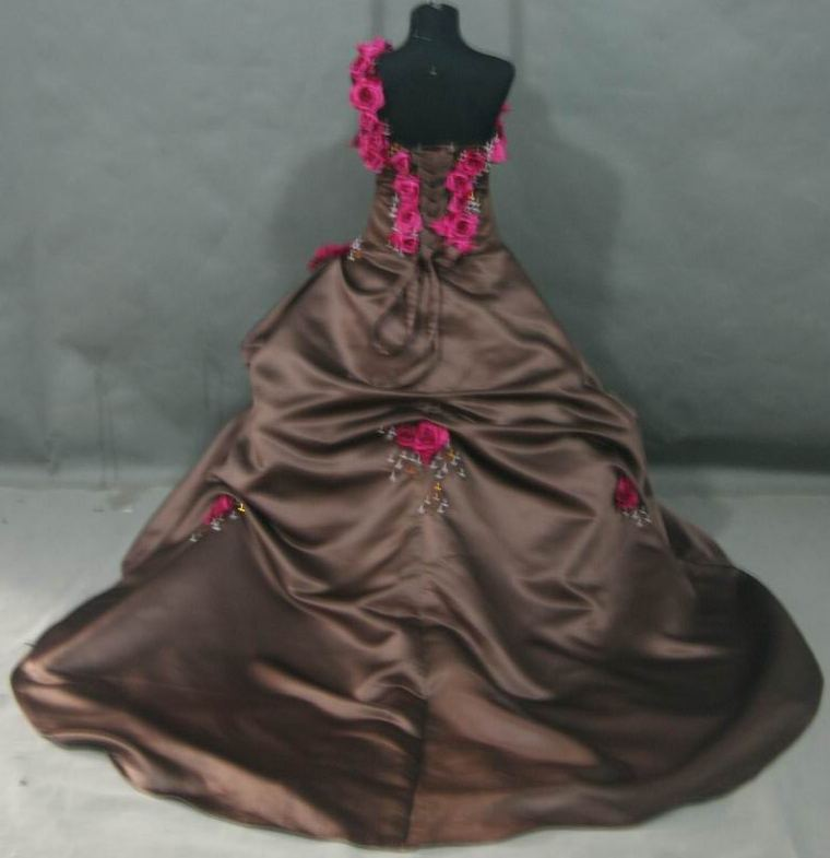 chocolate and watermelon ball gown