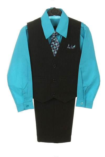 turquoise 4 piece shirt set