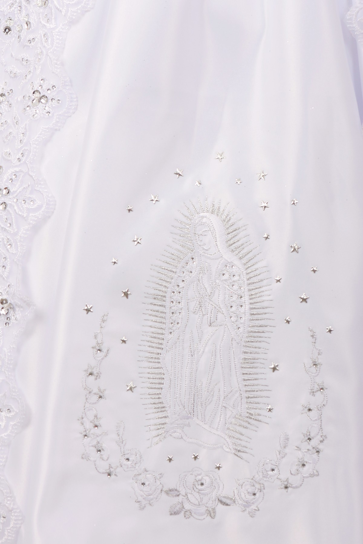 Communion dress with Virgin Mary