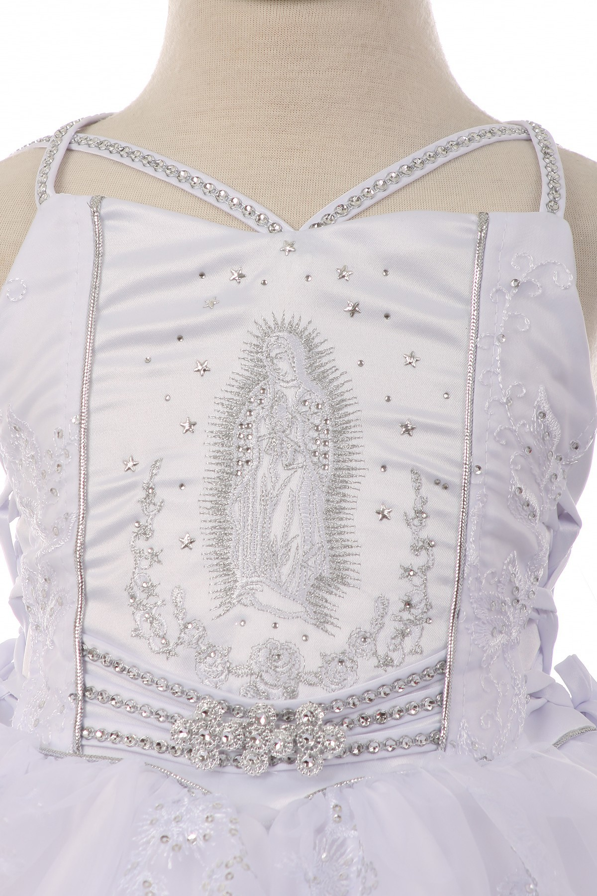 virgin mary christening dress