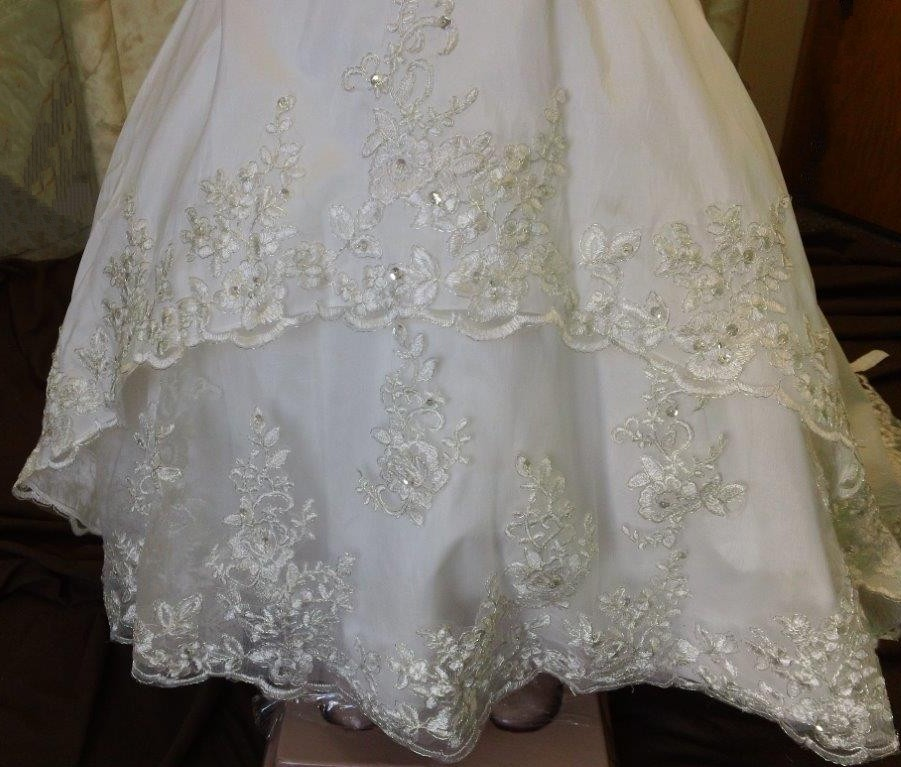 lace applique flower girl skirt